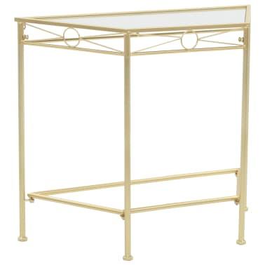 vidaXL Odkládací stolek ve vintage stylu kovový 87 x 34 x 73 cm zlatý[1/6]