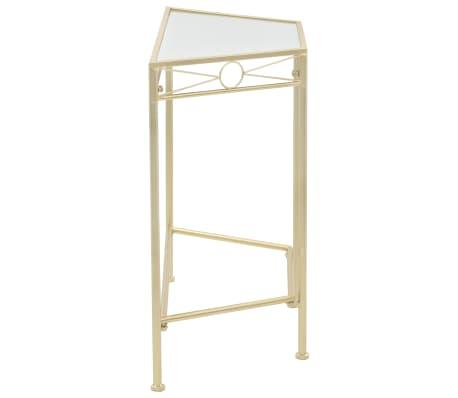 vidaXL Odkládací stolek ve vintage stylu kovový 87 x 34 x 73 cm zlatý[3/6]