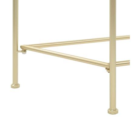 vidaXL Odkládací stolek ve vintage stylu kovový 87 x 34 x 73 cm zlatý[5/6]