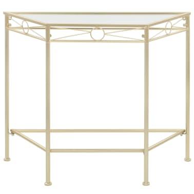 vidaXL Odkládací stolek ve vintage stylu kovový 87 x 34 x 73 cm zlatý[2/6]