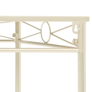 vidaXL Odkládací stolek ve vintage stylu kovový 87 x 34 x 73 cm zlatý[4/6]