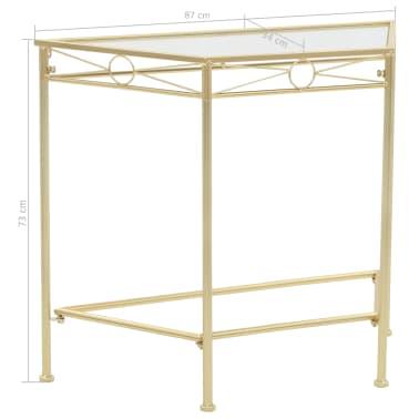 vidaXL Odkládací stolek ve vintage stylu kovový 87 x 34 x 73 cm zlatý[6/6]