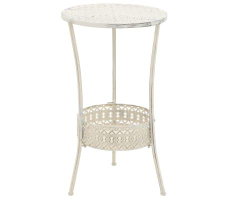 """vidaXL Bistro Table Vintage Style Round Metal 15.7""""x27.5"""" White"""