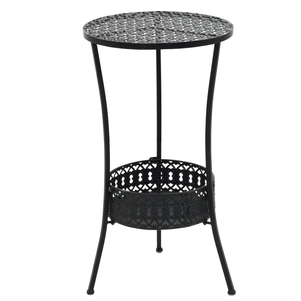 vidaXL Τραπέζι Bistro Μαύρο 40 x 70 εκ. Μεταλλικό