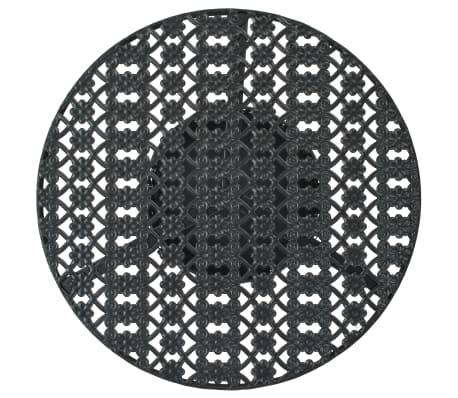 "vidaXL Bistro Table Black 15.7""x27.5"" Metal[2/6]"