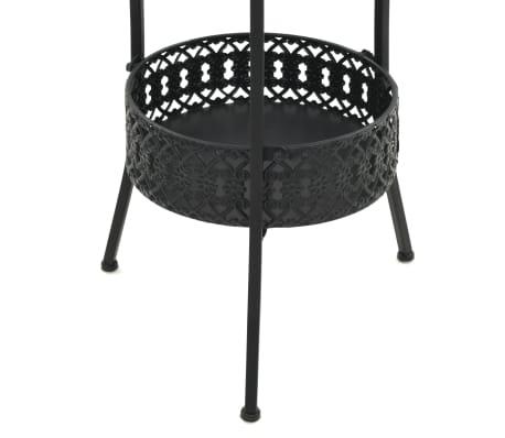 "vidaXL Bistro Table Black 15.7""x27.5"" Metal[5/6]"