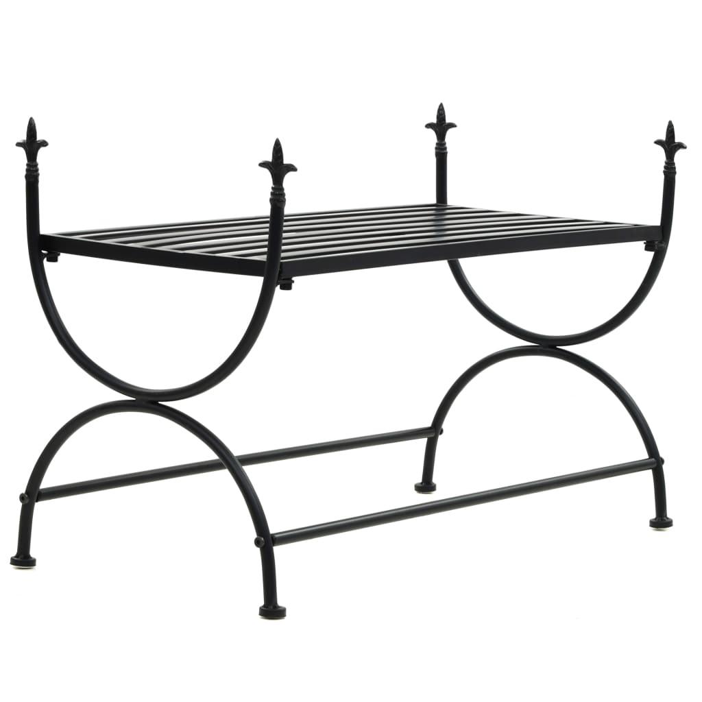 vidaXL Lavice ve vintage stylu kovová 83 x 42 x 55 cm černá
