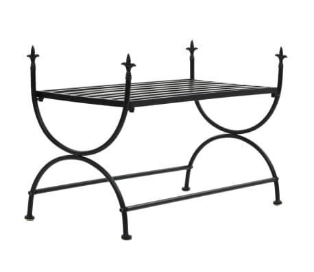 vidaXL Bench Vintage Style Metal 83x42x55 cm Black[1/7]