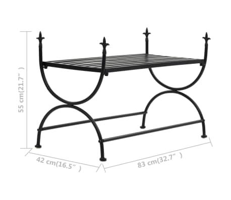 vidaXL Bench Vintage Style Metal 83x42x55 cm Black[7/7]