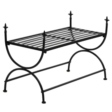 vidaXL Bench Vintage Style Metal 83x42x55 cm Black[2/7]