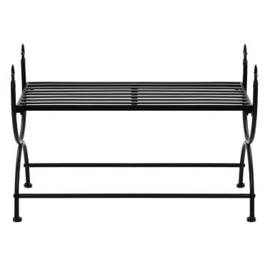 vidaXL Bench Vintage Style Metal 83x42x55 cm Black[3/7]
