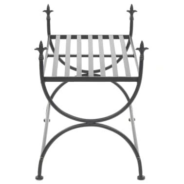 vidaXL Bench Vintage Style Metal 83x42x55 cm Black[4/7]
