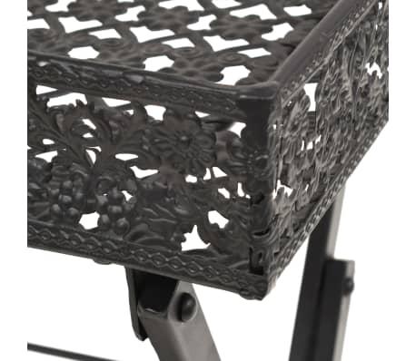 vidaXL Skladací čajový stolík čierny 58x35x72 cm kovový vintage štýl[5/9]
