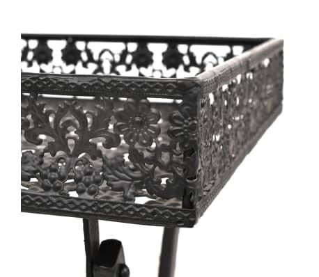 vidaXL Skladací čajový stolík čierny 58x35x72 cm kovový vintage štýl[6/9]