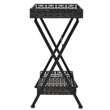 vidaXL Skladací čajový stolík čierny 58x35x72 cm kovový vintage štýl[3/9]