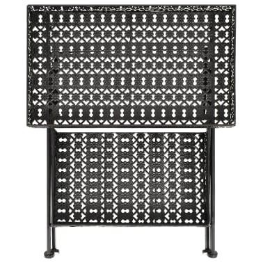 vidaXL Skladací čajový stolík čierny 58x35x72 cm kovový vintage štýl[4/9]