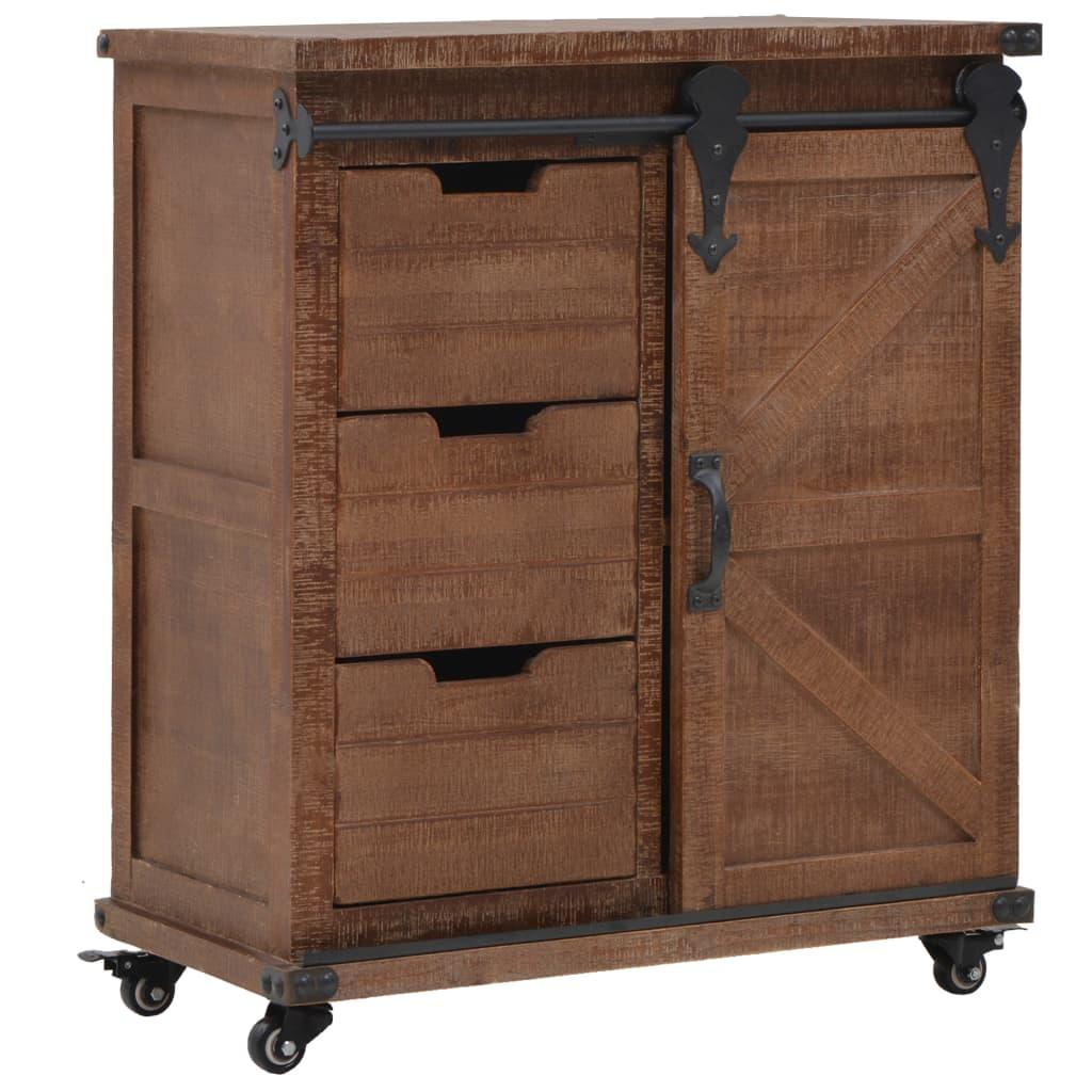 vidaXL Dulap de depozitare, lemn masiv de brad 64 x 33,5 x 75 cm, maro vidaxl.ro