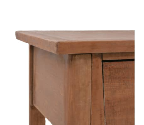 vidaXL Konsolinis staliukas, rudas, 126x40x77,5cm, eglės med. masyvas[6/10]