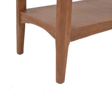 vidaXL Konsolinis staliukas, rudas, 126x40x77,5cm, eglės med. masyvas[9/10]
