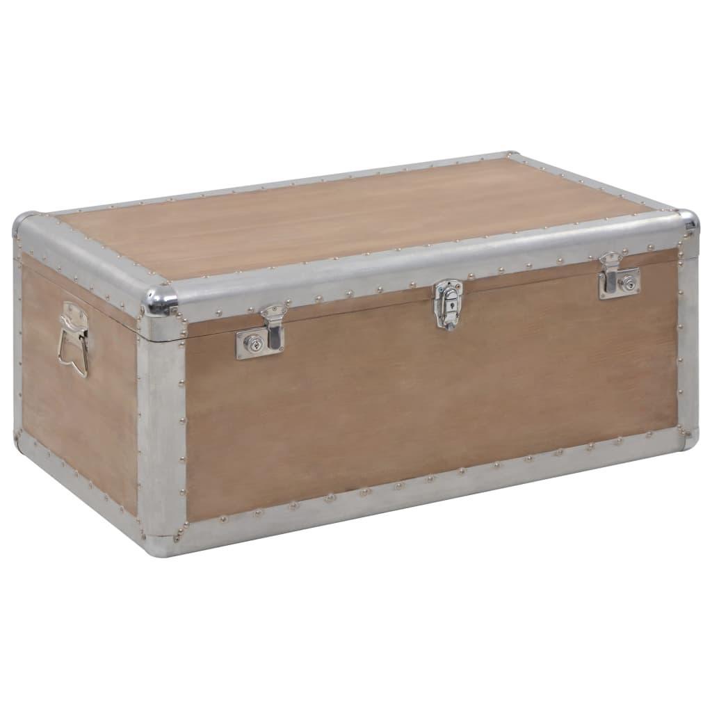 vidaXL Ladă de depozitare, maro, 91 x 52 x 40 cm, lemn masiv de brad poza 2021 vidaXL