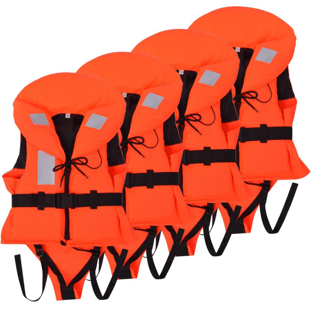 Dětské plovací vesty 4 ks 100 N 20-30 kg