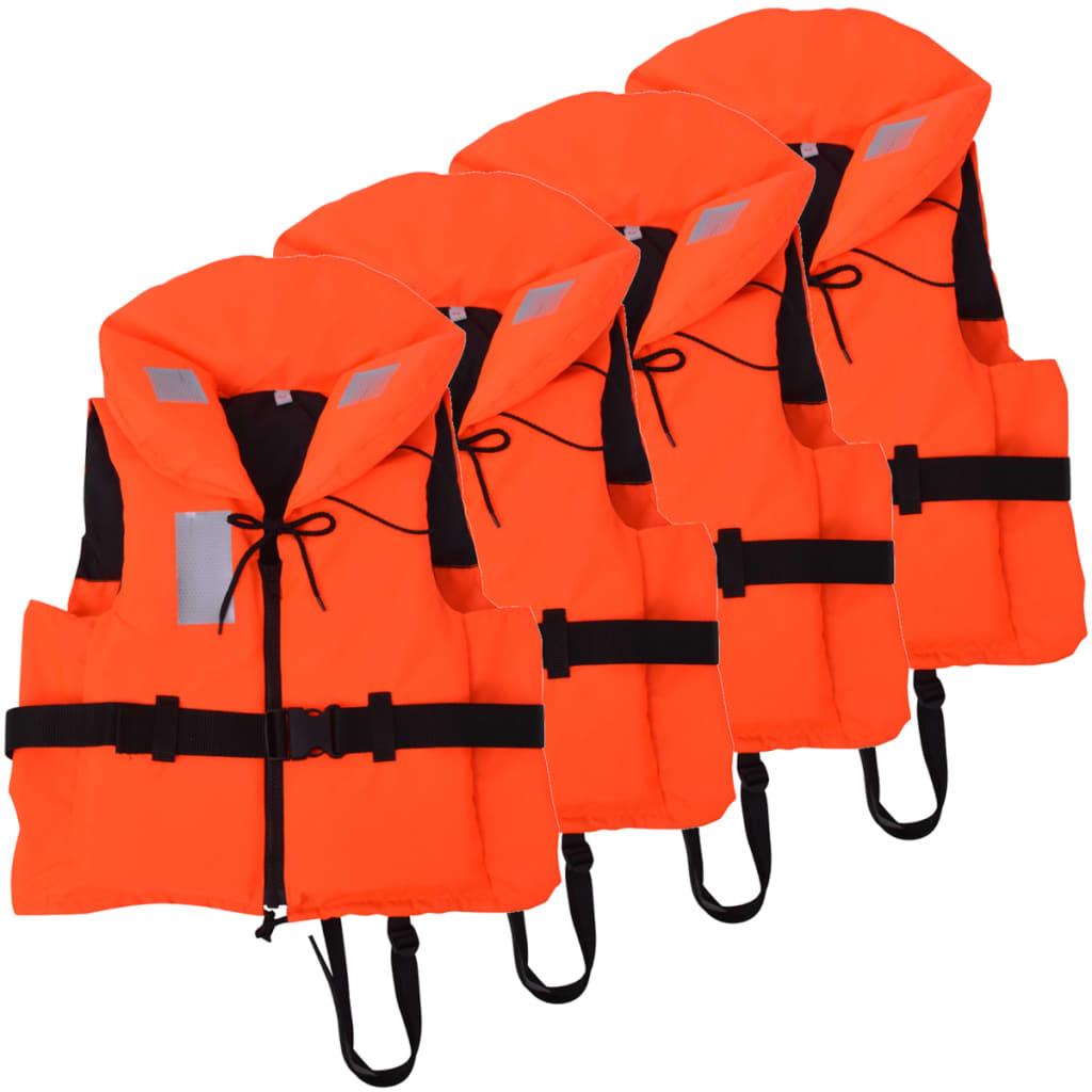 Plovací vesty 4 ks 100 N 30-40 kg