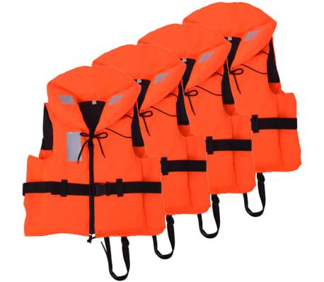 vidaXL Räddningsväst 4 st 100 N 30-40 kg
