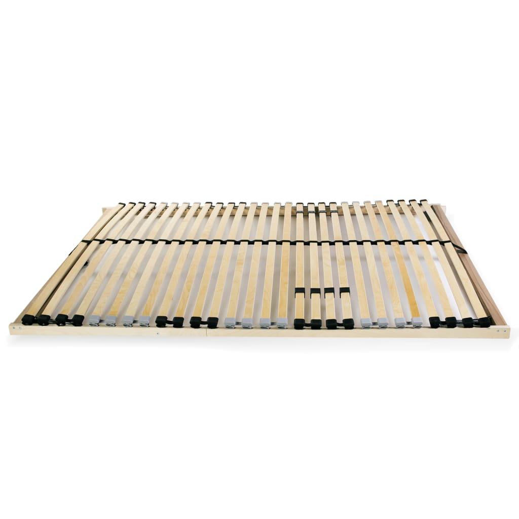 vidaXL Lattenbodem met 28 latten 7 zones FSC 100x200 cm