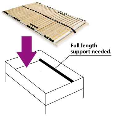 vidaXL Grotelės lovai su 28 lentjuostėmis, 7 zonos, 100x200cm[3/7]