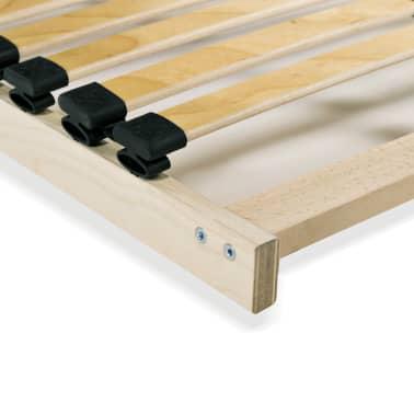 vidaXL Grotelės lovai su 28 lentjuostėmis, 7 zonos, 100x200cm[5/7]