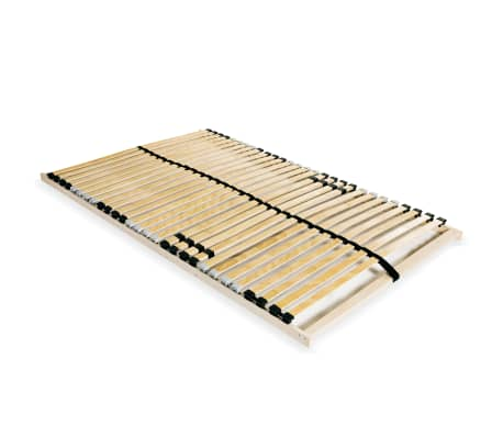 vidaXL lamelbund til seng med 28 lameller 7 zoner 120 x 200 cm