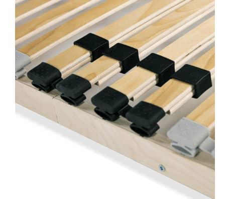 Vidaxl Stelaż Do łóżka Z 28 Listwami Drewno Fsc 7 Stref 120 X 200 Cm