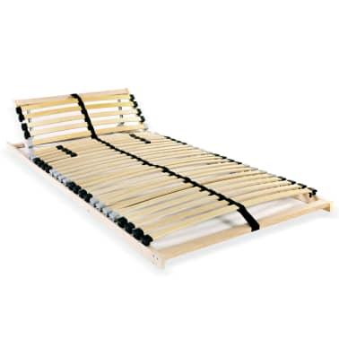 vidaXL Grotelės lovai su 28 lentjuostėmis, 7 zonos, 80x200cm, FSC[1/7]