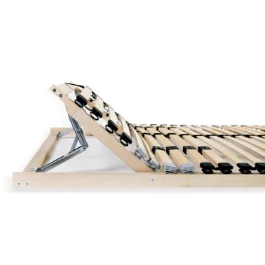 vidaXL Grotelės lovai su 28 lentjuostėmis, 7 zonos, 80x200cm, FSC[5/7]