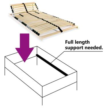 vidaXL Grotelės lovai su 28 lentjuostėmis, 7 zonos, 80x200cm, FSC[6/7]