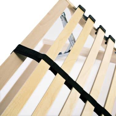 vidaXL Grotelės lovai su 28 lentjuostėmis, 7 zonos, 80x200cm, FSC[7/7]