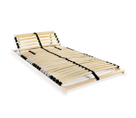 vidaXL Grotelės lovai su 28 lentjuostėmis, 7 zonos, 90x200cm