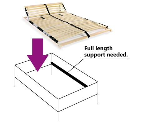 vidaXL Grotelės lovai su 28 lentjuostėmis, 7 zonos, 100x200cm, FSC[6/7]