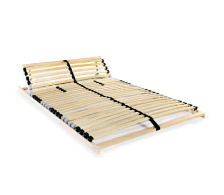 vidaXL Slatted Bed Base with 28 Slats 7 Zones 120x200 cm