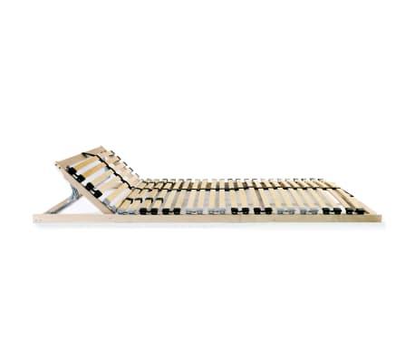vidaXL Grotelės lovai su 28 lentjuostėmis, 7 zonos, 120x200cm, FSC[2/7]