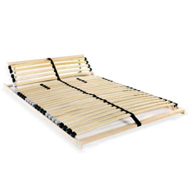 vidaXL Grotelės lovai su 28 lentjuostėmis, 7 zonos, 140x200cm, FSC[1/7]