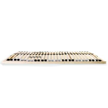 vidaXL Grotelės lovai su 28 lentjuostėmis, 7 zonos, 140x200cm, FSC[3/7]