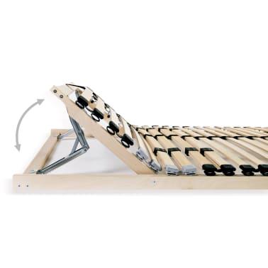 vidaXL Grotelės lovai su 28 lentjuostėmis, 7 zonos, 140x200cm, FSC[5/7]