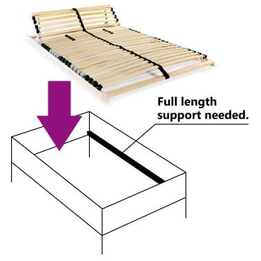 vidaXL Grotelės lovai su 28 lentjuostėmis, 7 zonos, 140x200cm, FSC[6/7]