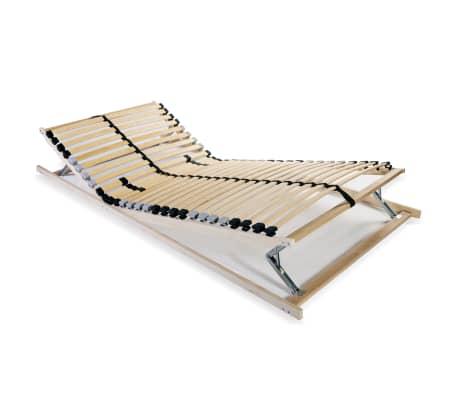 vidaXL Grotelės lovai su 28 lentjuostėmis, 7 zonos, 70x200cm, FSC[1/8]