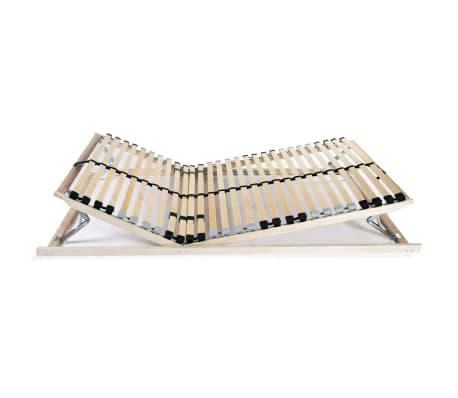 vidaXL Grotelės lovai su 28 lentjuostėmis, 7 zonos, 70x200cm, FSC[4/8]