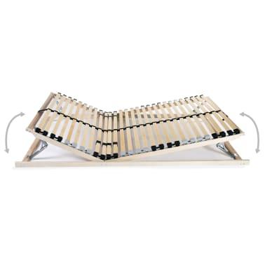 vidaXL Grotelės lovai su 28 lentjuostėmis, 7 zonos, 70x200cm, FSC[2/8]