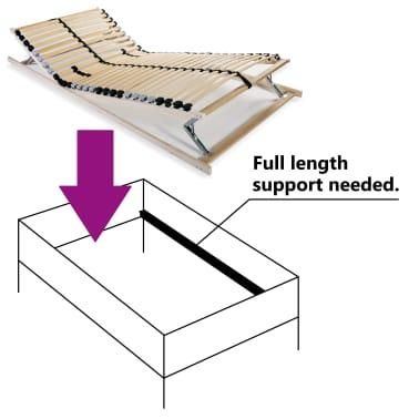vidaXL Grotelės lovai su 28 lentjuostėmis, 7 zonos, 70x200cm, FSC[5/8]