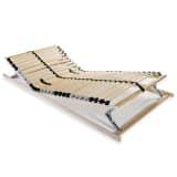 vidaXL gultas redeles, 28 līstītes, 7 zonas, 90x200 cm, FSC