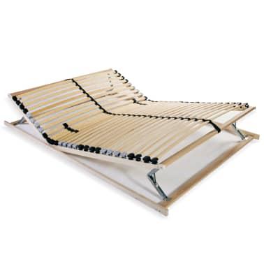 vidaXL Stelaż do łóżka z 28 listwami, drewno FSC, 7 stref, 100x200 cm[1/8]